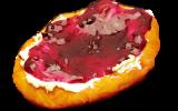 あげ焼きパン象の耳:クリームチーズ &ブルーベリー